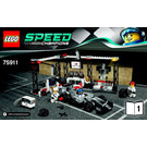 LEGO McLaren Mercedes Pit Stop Set 75911 Instructions