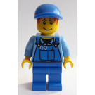 LEGO Mechanic In Blue Work Clothes And Hat Minifigure