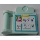 LEGO Medical Clipboard with Ape, Paw Print, Chart Sticker