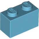 LEGO Medium Azure Brick 1 x 2 (3004)