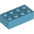 LEGO Medium Azure Brick 2 x 4 (3001)