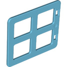 LEGO Medium Azure Duplo Window 4 x 3 with Bars with Same Sized Panes (90265)