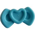 LEGO Medium Azure Hair Bow with Heart Design (92355)