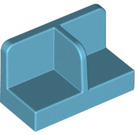 LEGO Medium Azure Panel 1 x 2 x 1 with Thin Central Divider and Rounded Corners (18971)
