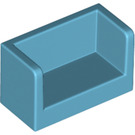 LEGO Medium Azure Panel with Closed Corners 1 x 2 x 1 (23969 / 35391)