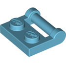 LEGO Medium Azure Plate 1 x 2 with Handle (Closed Ends) (48336)