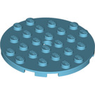 LEGO Plate 6 x 6 Round with Tube Pin (11213)