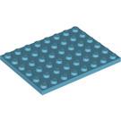 LEGO Medium Azure Plate 6 x 8 (3036)