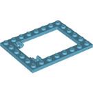 LEGO Medium Azure Plate 6 x 8 Trap Door Frame Flush Pin Holders (92107)