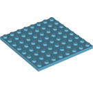 LEGO Medium Azure Plate 8 x 8 (41539)