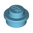 LEGO Medium Azure Round Plate 1 x 1 (6141)