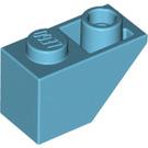 LEGO Medium Azure Slope 1 x 2 (45°) Inverted (3665)