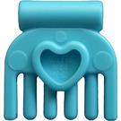 LEGO Medium Azure Small Comb with Heart (92355)