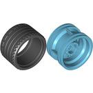 LEGO Medium Azure Wheel Rim Ø30 x 20 with No Pinholes, with Reinforced Rim with Tire Low Wide Ø37 X 22