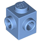 LEGO Medium Blue Brick 1 x 1 with Two Studs on Adjacent Sides (26604)