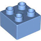 LEGO Medium Blue Duplo Brick 2 x 2 (3437)