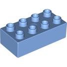 LEGO Medium Blue Duplo Brick 2 x 4 (3011)