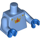 LEGO Medium Blue Unicorn Guy Minifig Torso (88585)