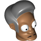 LEGO Medium Dark Flesh Apu Nahasapeemapetilon Head (18146)