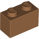 LEGO Medium Dark Flesh Brick 1 x 2 (3004)
