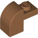 LEGO Medium Dark Flesh Brick 1 x 2 x 1.33 with Curved Top (6091 / 32807)