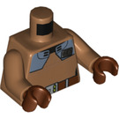 LEGO Medium Dark Flesh Commander Santo Minifig Torso (76382)