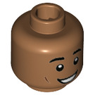 LEGO Medium Dark Flesh Dean Thomas Plain Head (Recessed Solid Stud) (39231)