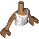 LEGO Medium Dark Flesh Friends Torso, with Squared Scales Pattern (92456)