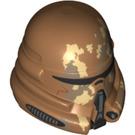 LEGO Medium Dark Flesh Geonosis Airborne Clone Troopers Clone Trooper Helmet (20224)