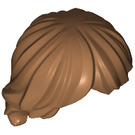 LEGO Medium Dark Flesh Minifigure Hair Tousled and Layered (92746)