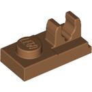LEGO Medium Dark Flesh Plate 1 x 2 with Top Clip with Gap (92280)