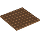 LEGO Medium Dark Flesh Plate 8 x 8 (41539)