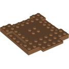 LEGO Medium Dark Flesh Plate 8 x 8 x 6 with Cutouts and Ledge (15624)