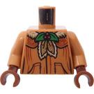 LEGO Medium Dark Flesh Professor Pomona Sprout Minifig Torso