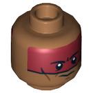 LEGO Medium Dark Flesh Red Knee Head (Recessed Solid Stud) (14150)