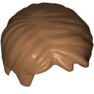 LEGO Medium Dark Flesh Short Tousled Hair with Side Parting (62810)