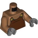 LEGO Medium Dark Flesh Underminer Minifig Torso (76382)