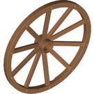 LEGO Medium Dark Flesh Wheel 3.2 x 56 with 10 Spokes Wooden (33212)
