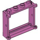 LEGO Medium Dark Pink Window 1 x 4 x 3 with Shutter Tabs (3853)