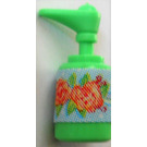 LEGO Medium Green Scala Bathroom Accessories Hand Soap Dispenser with 2 Flowers Sticker