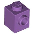 LEGO Medium Lavender Brick 1 x 1 with Stud on One Side (87087)