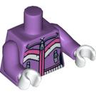 LEGO Medium Lavender Downhill Skier Torso (88585)