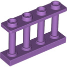 LEGO Medium Lavender Fence Spindled 1 x 4 x 2 with 4 Top Studs (15332)