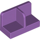 LEGO Medium Lavender Panel 1 x 2 x 1 with Thin Central Divider and Rounded Corners (18971)