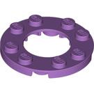 LEGO Medium Lavender Plate 4 x 4 Round with Cutout (11833 / 28620)