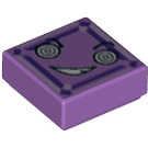 LEGO Medium Lavender Tile 1 x 1 with Decoration with Groove (29407)