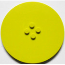 LEGO Medium Lime Tile 8 x 8 Round with 2 x 2 Center Studs (6177)