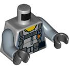 LEGO Medium Stone Gray Army Gunner Shark Minifig Torso (76382)