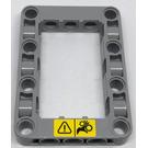 LEGO Medium Stone Gray Beam Frame 5 x 7 with Warning Sign Sticker