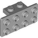 LEGO Medium Stone Gray Bracket 1 x 2 - 2 x 4 (21731 / 93274)